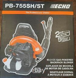 Nouveau Echo Pb-755sh/st Backpack Gas Leaf Blower Pb755st 233 Mph 2 Stroke 63.3cc 73