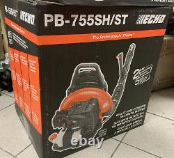 Nouveau Echo Pb-755sh/st Feuille De Sac À Dos Blower Gas Pb755st 233 Mph 2 Temps 63.3cc