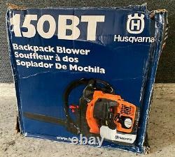 Nouveau Husqvarna 150bt 50cc 2 Cycle Gas Commercial Leaf Backpack Blower Damaged Box