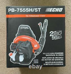 Nouveau Souffleur De Feuilles Echo Gas Powered Back Pack 63.3cc Nouveau Modèle # Pb-755sh/st
