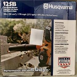 Nouveau Souffleur De Poche Husqvarna 125b 28cc 170-mph