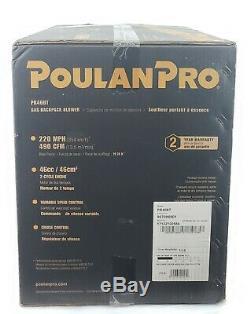 Poulan Pro Pr46bt, Souffleur De Feuilles À Dos Pour Sac À Dos 475 Cfm 200 Mph, 46 CC Nouveau
