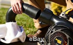 Poulan Pro Ventilateur / Aspirateur À Main Portable Ppbv25 25 CC Gas À 2 Cycles De 450 Pcm Et 230 Mph
