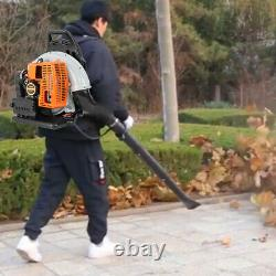 Puissant 80cc 2-cycle Motor Gas 850 Cfm 230 Mph Backpack Leaf Blower Orange