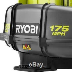 Ryobi 175 Mph 760 Cfm 38cc Gas Sac À Dos Souffleuse