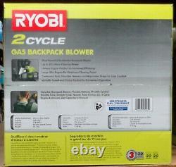 Ryobi Ry38bp 175 Mph 760 Cfm 2 Cycle Souffleur À Dos Nouveau