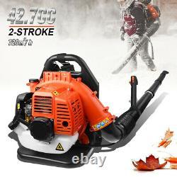 Sac À Dos Commercial Leaf Blower Gas Powered Grass Lawn Blower 2-stroke 42.7cc