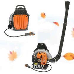 Sac À Dos Commercial Leaf Blower Gas Powered Grass Lawn Blower 2-stroke 65cc Nouveau