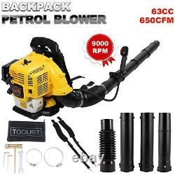 Sac À Dos Commercial Powerful Blower Leaf Blower 63cc 2 Temps À Moteur Gaz 650 Cfm