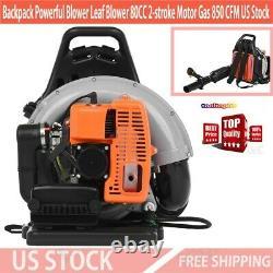 Sac À Dos Powerful Blower Leaf Blower 80cc 2 Temps Moteur Gaz 850 Cfm Us Stock