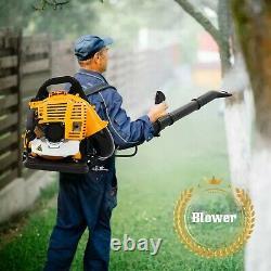 Sac À Dos Puissant Souffleur Leaf Blower 80cc 2 Temps Motor Gas 850 Cfm Us 1.7l