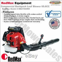Sac À Dos Redmax Commercial Souffleuse 65.6cc, Main D'accélérateur / Ebz7500rh