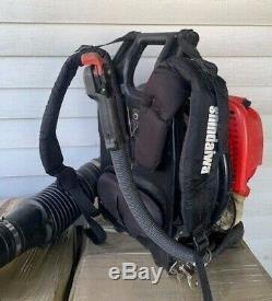 Shindaiwa Eb802 Gas Powered Backpack Souffleuse Testé Et Fonctionne Très Bien