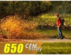 Souffleur À Feuilles Sans Fil Mellcom, 52cc 2-cycle Gas Handheld Leaf Blower Gasoline -nouveau
