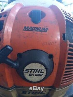 Stihl Br600 Magnum Professional Gas Powered 64.8cc Sac À Dos Souffleuse
