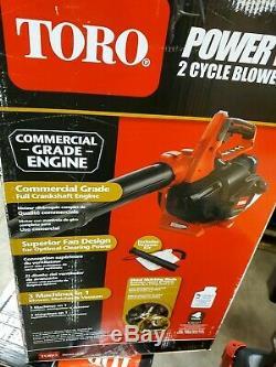 Toro 3-in-1 Pro De Qualité Commerciale À Main À Essence Souffleuse À Vide Broyeuse 2 Cycle