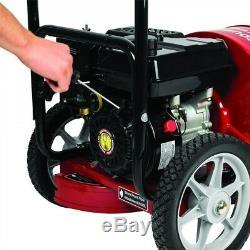 Walk Behind Souffleuse Motorisé À Essence 4 Temps 163cc Lawn Sweeper Roues Retirer